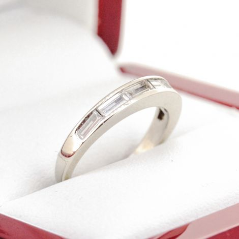 wedding band, diamond wedding band, baguette diamond eternity band
