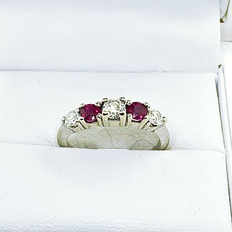 Vintage Ruby and Diamand Eternity ring