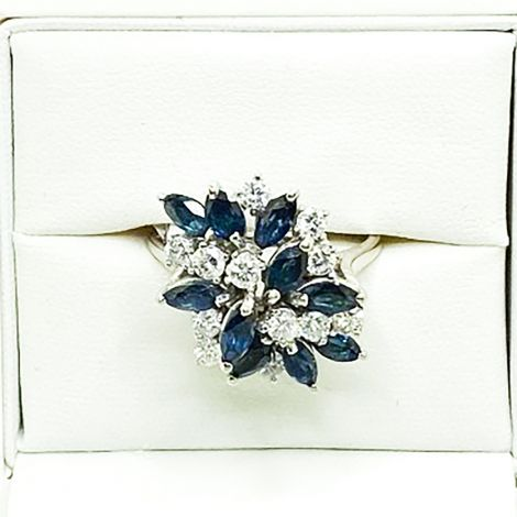 Vintage Sapphire Dress rings Rozelle