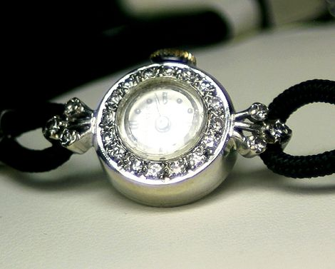 Ladies Longines Watch with Diamonds on 14 carat White Gold