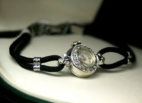 Ladies Longines Watch with Diamonds on 14 carat White Gold