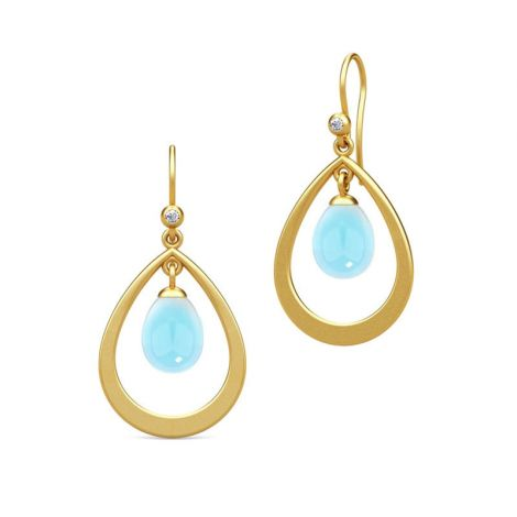 Julie Sandlau blue droplet earrings