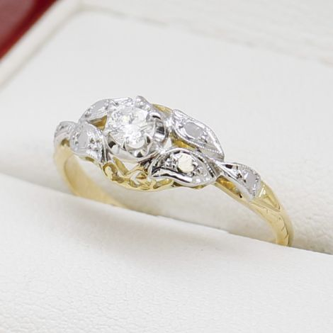 Diamond Two Tone Engagement Ring, Coinage Engagement Ring, Same Sex Engagement Ring, 6 Claw Solitaire Diamond Ring, Hand Made Two Tone Diamond Ring, Solitaire Engagement Ring,