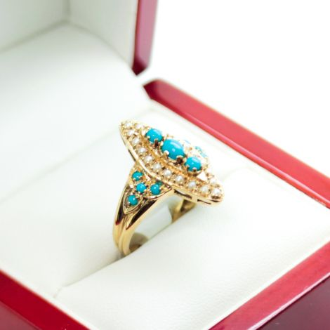 Victorian Turquoise Ring